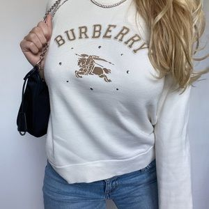 Burberry AUTHENTIC Cream Crewneck Sweatshirt